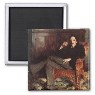 Robert Louis Stevenson Portrait 2 Inch Square Magnet