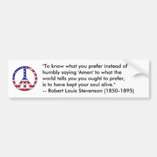Robert Louis Stevenson Quote Car Bumper Sticker
