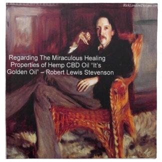 Robert Louis Stevenson y la cita CBD es aceite de Servilletas