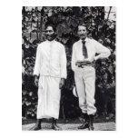 Robert Louis Stevenson y su amigo Tarjetas Postales
