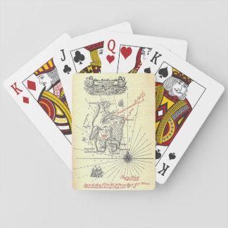Robert Louis Stevenson's Treasure Island Map Playing Cards