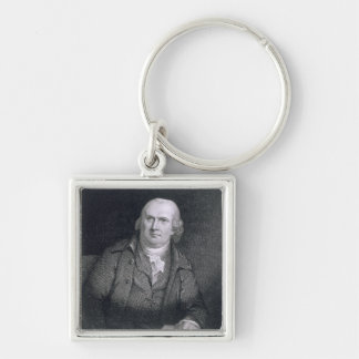 Robert Morris (1733-1806) engraved by Thomas B. We Silver-Colored Square Keychain