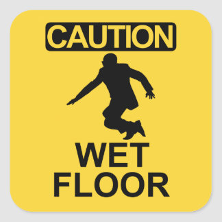 Robert Mugabe wet floor sign Square Sticker