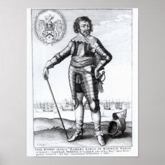 Robert Rich, 2nd Earl of Warwick Poster