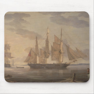 Robert Salmon - Ships in Harbor Mouse Pad