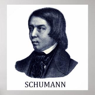 Robert Schumann, blue Poster