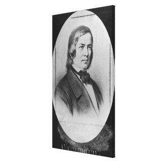 Robert Schumann  engraved from a photograph Canvas Print
