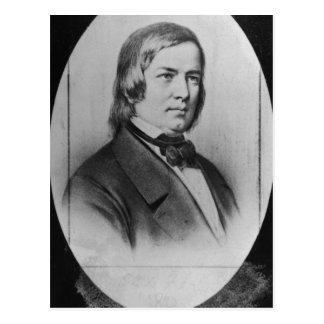 Robert Schumann  engraved from a photograph Postcard