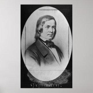 Robert Schumann  engraved from a photograph Poster