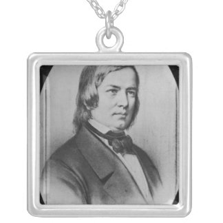 Robert Schumann  engraved from a photograph Silver Plated Necklace