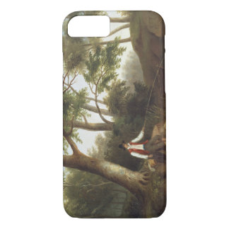 Robert Scott Duncanson - Man Fishing iPhone 8/7 Case