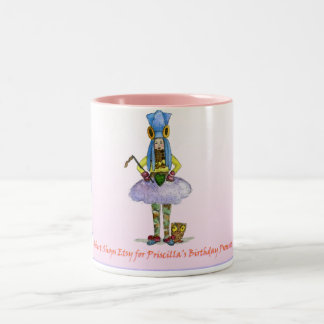 Robert Shops Etsy for Priscilla's Holiday Presents Two-Tone Coffee Mug