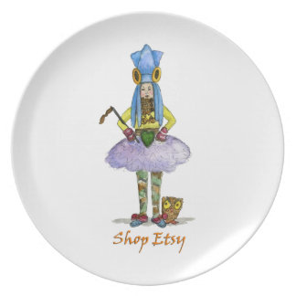 Robert Shops for Priscilla's Holiday Presents Plat Dinner Plate