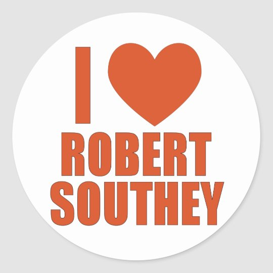 Robert Southey Classic Round Sticker