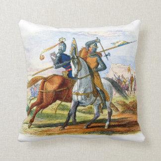 Robert the Bruce kills Sir Henry Bohum Throw Pillow