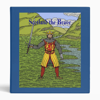 Robert the Bruce Scotland the Brave 3 Ring Binder