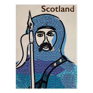 Robert the Bruce Scotland travel poster