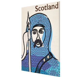 Robert the Bruce Scotland travel poster Canvas Print