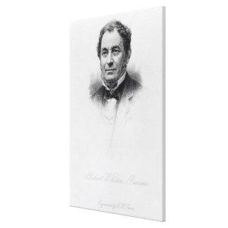 Robert Wilhelm Bunsen, engraved by C.H Jeens Canvas Print