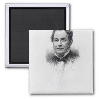 Robert Wilhelm Bunsen, engraved by C.H Jeens Refrigerator Magnets