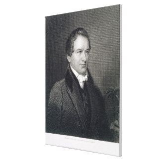 Robert Young Hayne (1791-1841) engraved by Henry B Canvas Print