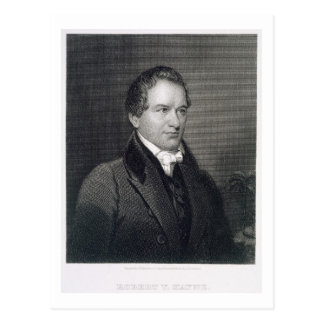Robert Young Hayne (1791-1841) engraved by Henry B Postcard