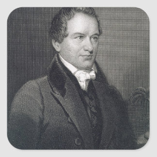 Robert Young Hayne (1791-1841) engraved by Henry B Square Sticker