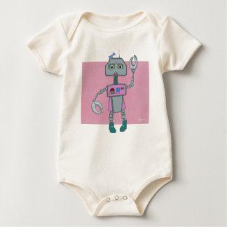 Roberta Robot dons bows Baby Bodysuit