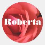 Roberta Round Stickers