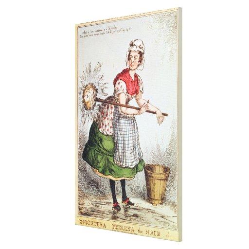 Robertena Peelena la criada de todo el trabajo Impresion De Lienzo