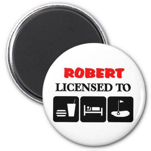 Roberto autorizó para comer golf del sueño imán de frigorífico