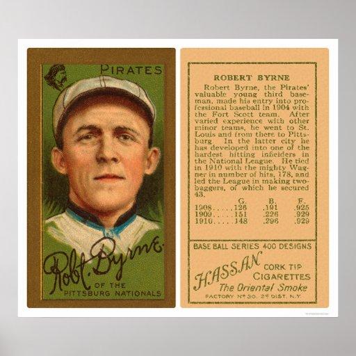 Roberto Byrne piratea el béisbol 1911 Póster