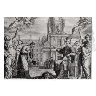 Roberto de Sorbon y Cardenal Richelieu Tarjeta De Felicitación