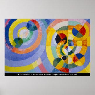 Roberto Delaunay - formas circulares Póster