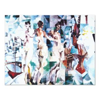 Roberto Delaunay la ciudad de París Invitación 10,8 X 13,9 Cm