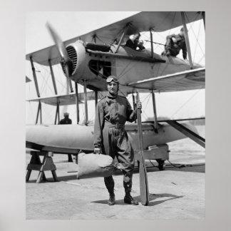Roberto E. Byrd con Hydroaeroplane, los años 20 Póster