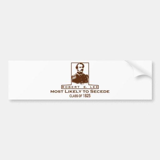 Roberto E. Lee muy probablemente a secede Etiqueta De Parachoque