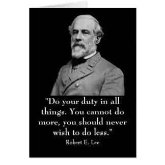 Roberto E. Lee y cita Tarjeta De Felicitación