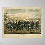 Roberto E. Lee y sus generales del confederado de  Impresiones
