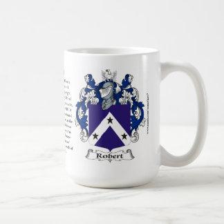 Roberto, el origen, el significado y el escudo taza