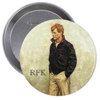 Roberto F. Kennedy Pin Redondo De 4 Pulgadas