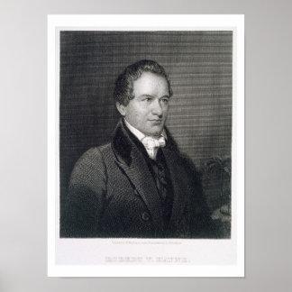 Roberto Hayne joven (1791-1841) grabado por Henry  Póster