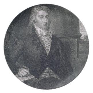 Roberto R. Livingston, grabado por E. Mackenzie (e Platos De Comidas