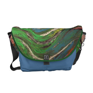 Roberto Regan Abstract Art Painting Courier Bag