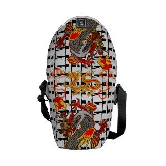 Roberto Regan Asian Dragons Designer Bag! Courier Bags
