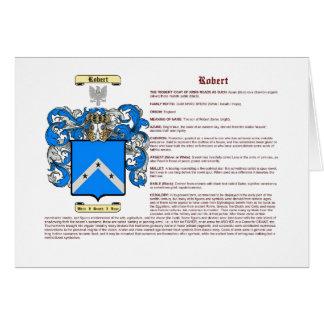 Roberto (significado) tarjeta pequeña