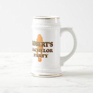Robert's Bachelor Party 18 Oz Beer Stein