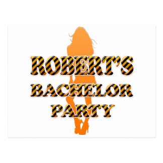 Robert's Bachelor Party Postcard