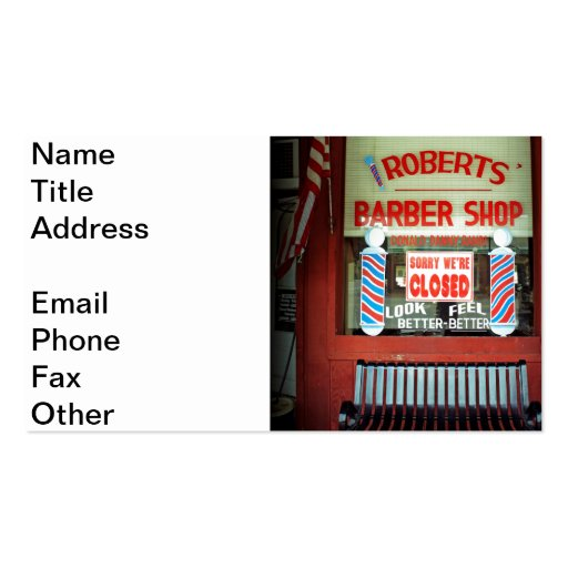 Roberts barber shop business card zazzle for Barber shop business card
