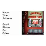 Roberts Barber Shop Business Card Template